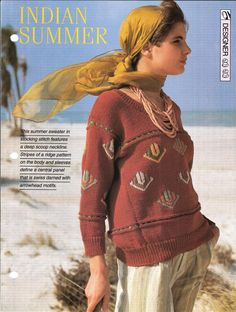 Knitting pattern  Woman's Indian Summer by MyPatternsCollection