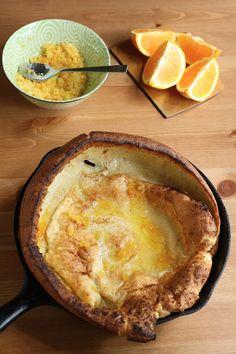 Dutch Baby Pancakes with Orange Sugar