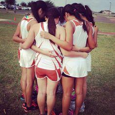 Team work!!!!! Prayers before a race!!! Go XC!!