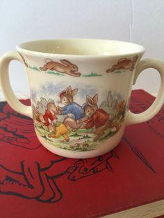 Vintage Bunnykins Mug Royal Doulton Bone by PineStreetPickers
