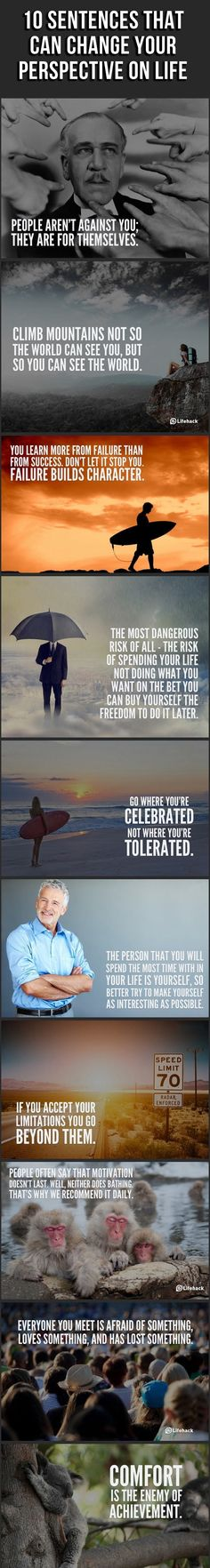 Ten sentences that Can Change Your Perspective On LIFE!