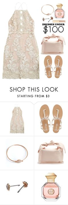 """""""Under $100: Summer Dresses"""" by justkejti ❤ liked on Polyvore featuring Head Over Heels by Dune, Simone Rocha, Tory Burch, monochrome, lacedress, under100 and zaful"""