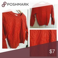 Girls orange sweater Girls orange sweater. Used with no stains, rips, or pulls. Size XL. Smoke free home!! GB Girls Shirts & Tops Sweaters