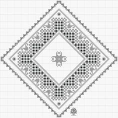 Nytt mønster til enkel brikke i hardangersøm....