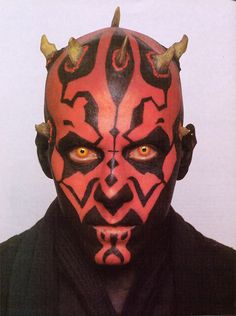 Hopefully my face will look something like this for Halloween darth maul makeup | Darth Maul: The Warrior: Expanded Universe Darth Maul. How the Sith ...