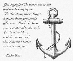 you're anchored.