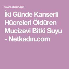 İki Günde Kanserli Hücreleri Öldüren Mucizevi Bitki Suyu - Netkadın.com