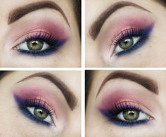 Fun colorful look perfect for spring & summer by Candy Killer using Makeup Geek's Neptune, Mango Tango, and Simply Marlena. Be sure to check out her blog for other great looks!