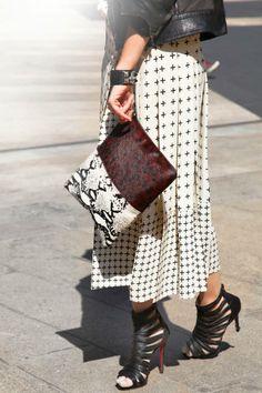 Zanna Roberts Rassi Occupation: Senior Fashion Editor, Marie Claire Shoes: Christian Louboutin Bag: Topshop