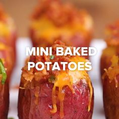 Mini calzones, mini corn dogs, mini tacos, turkey shepard's pie cups, mini twice baked potatoes- clever little appetizers I Love Food, Good Food, Yummy Food, Tasty Videos, Food Videos, Cooking Videos, Diy Food, Appetizer Recipes, Snacks Recipes