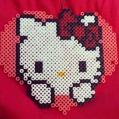 Hello Kitty hama beads by kittylomba