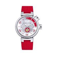Louis Vuitton (Lv) Tambour Medium Diving Quartz Poppy In Red