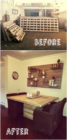 How to make from reclamed wood a dinnertable.