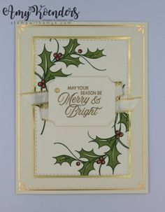 Christmas Cards 2018, Stamped Christmas Cards, Simple Christmas Cards, Beautiful Christmas Cards, Homemade Christmas Cards, Stampin Up Christmas, Christmas Greeting Cards, Christmas Greetings, Homemade Cards