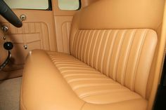 Tan leather interior with door pouches and sweet swooping shifter. Pic 2