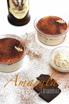 Amarula Tiramisu - An Italian classic with an African twist. Amarula liqueur made from sugar, cream and the fruit from the African Marula tree. Trifle Desserts, Pudding Desserts, Just Desserts, Cupcake Recipes, Cupcake Cakes, Dessert Recipes, Easy Cooking, Cooking Recipes, Yummy Drinks