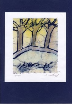 Trees in a wild country  Batik by marybatik on Etsy, $32.00