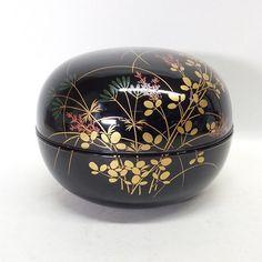 Large Japanese Vintage Lacquerware 漆器 Covered Bowl Beautiful 抹茶碗