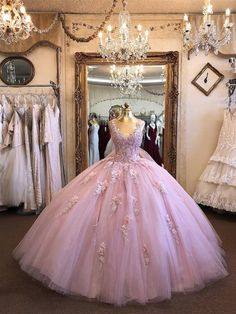 Sparkly Tulle Appliqued Bodice Illusion Neckline Ball Gown Prom Dresses, This dress could be custom made, there are no extra cost to do custom size and color Ball Gowns Evening, Ball Gowns Prom, Ball Dresses, 15 Dresses, Robes Quinceanera, Pretty Quinceanera Dresses, Short Tight Prom Dresses, Formal Dresses, Wedding Dresses