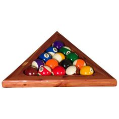 These Pool Table Triangles Are Designed To Incase A Set Of Billiard Pool  Table Balls, For A Classic Game Of Billiards. Every Pool Table Triangle Is  Hand ...