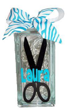 Cute hair stylist gift!  MemoryLites - 4x8 Hair Stylist MemoryLite, $25.00 (http://www.memorylites.com/4x8-hair-stylist-memorylite/)