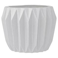 "Ceramic Fluted Flower Pot - White (7"") - 3R Studios : Target"