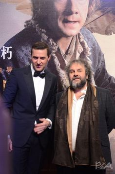 Beijing BOTFA premiere - January 2015 Richard Armitage and Peter Jackson
