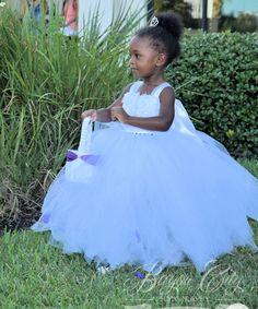 Flower girl dress  tulle flower girl dress Tutu by CousinsClothing