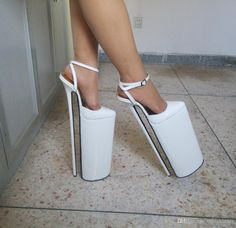 White High Heels, Very High Heels, High Shoes, Pump Shoes, Platform Shoes, Plateau Heels, Cheap Mens Shoes, Talons Sexy, Extreme High Heels