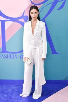 celebsofcolor: Adriana Lima attends the 2017 CFDA Fashion