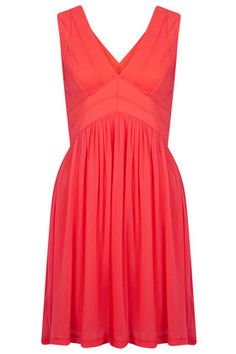 Bandage V Skater Dress - Going Out Dresses - Dresses  - Comes in blue, pink and yellow