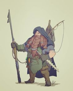 """ArtStation - Daily Mythmonth week Brenda van Vugt """"His mates have always mocked Ludgar for wanting to be a fisherman instead of a warrior, but they will never know the many adventures of the sea. Fantasy Character Design, Character Creation, Character Design Inspiration, Character Concept, Character Art, Concept Art, Fantasy Dwarf, Fantasy Rpg, Fantasy Warrior"""