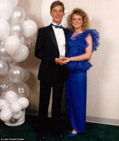 Matthew McConaughey and date at his high school prom