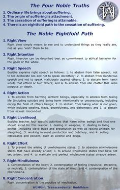 The Four Noble Truths and the Eightfold path ~ Buddhist philosophy for human being