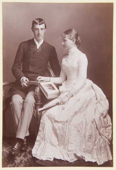 Hanfstaengl : Dresden - The Archduke Otto of Austria and his bride, Princess of Saxony Engagement Images, Royal Engagement, Spanish Netherlands, German Royal Family, Two Sicilies, Royal Photography, Archduke, Maria Theresa, Old Portraits