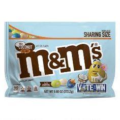 M&m's Thai Coconut Peanut Chocolate Candy Flavor Vote Bag Dark Chocolate Candy, Chocolate Caramels, Chocolate Peanuts, Chocolate Flavors, Chocolate Peanut Butter, Peanut M&ms, Peanut Candy, Mini Milk, Thai Coconut