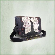 Exclusive Blood Splatter Daryl Wings Messenger Bag
