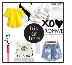 """""""Romwe Shorts"""" by ayannap ❤ liked on Polyvore featuring Kate Spade, J.Crew and Lime Crime"""
