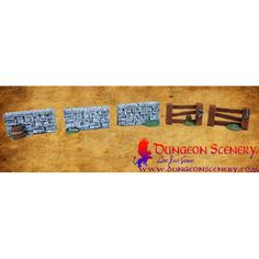 Dungeon Scenery is modular terrain for board games, wargames, RPG, D&D Dry Stone, Ancient Architecture, Fences, Dungeons And Dragons, New Product, Saga, Crates, Board Games, Markers
