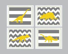Chevron & Striped Dinosaur #pinparty