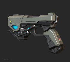 Lowpoly pistol for VR Shooter, Natiq Aghayev on ArtStation at https://www.artstation.com/artwork/gGR6E
