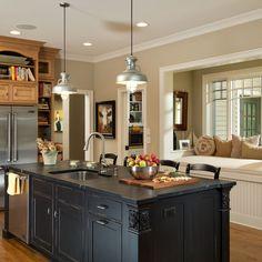 Sherwin Williams 'Urban Putty' Kitchen in Faux Impressions Smooth Quartz Stone SWF 233