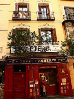 Antigua casa de Miguel de Cervantes. Calle Huertas. Madrid  Spain