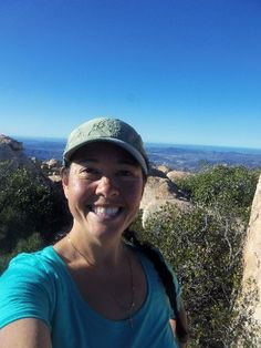 A16 HR Manager Angela Shepler out hiking El Cajon Mountain