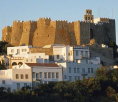 Fortress on Patmos, an Aegean island that is now a part of Greece. The cave cave where John wrote the book of Revelation is on this island. Santorini, Beautiful Islands, Beautiful Places, Beautiful Scenery, Myconos, Greek Isles, Greece Islands, Greece Travel, World Heritage Sites