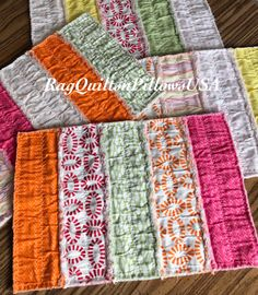 Spring Placemats  Set 2   Handmade Placemats  Table Mats   Quilted Placemats   Small