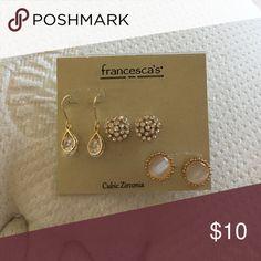Earrings Francesca's stud and hanging earrings Francesca's Collections Jewelry Earrings