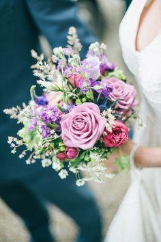 pink, purple and red bouquet