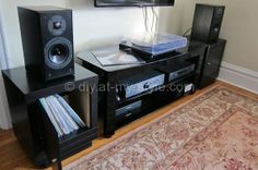 Speaker Stands / Record Storage Combo