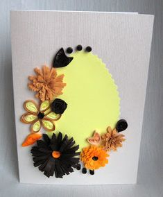 Quilling M handmade crafts and hobbies: Quilling Easter Cards - Felicitari de Paste Handmade Crafts, Past, Hobbies, Greeting Cards, Paper Crafts, Card Ideas, Blog, Paper Quilling, Mariana